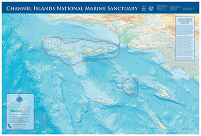 map of channel islands national marine sanctuary